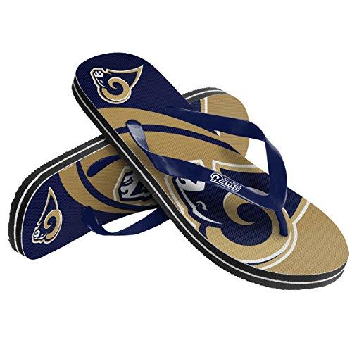 FOCO NFL St. Louis Rams 2015 Flip-Flops mit großem Logo, Größe S, Blau