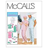 McCall's Patterns M6107 Misses'/Men's Lab Coat, Dress, Top, Pull-On Pants, Hats and Tie Belt, Size Z...