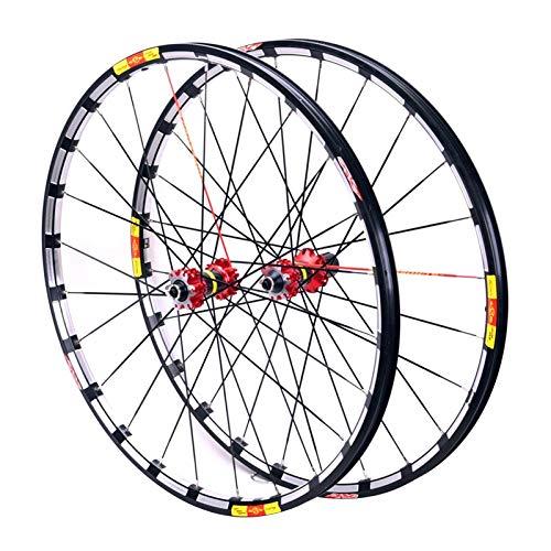 Accesorio de bicicleta de ejes de liberación rápid MTB Bikycle Wheelset 26 27.5 29 en la bicicleta de carretera RIM RUELAS DE FRENO DE DISCO CUBIERTAS DE FIBRA DE CARBONO 7-11 Cassette de velocidad QR
