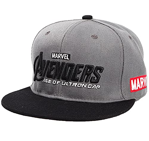 Marvel Avengers Logo Baseball Cap, Snapback Baseball Cap, Mehrfarbig, Unisex für Kinder Geschenk E