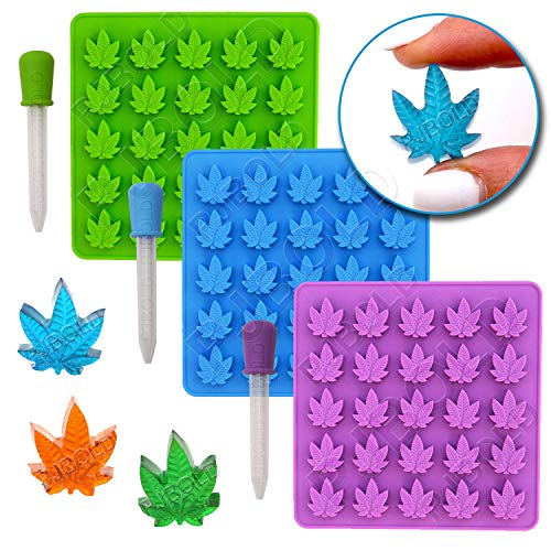 For Sale! Gummy Leaf Silicone Candy Mold Party Novelty Gift - 3 Pack