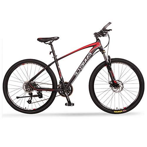 Qj Bicicletas De Montaña, 27 Velocidad De 27,5 Pulgadas De Big Mountain Trail Neumáticos De Bicicletas, De Doble Suspensión De La Bici De Montaña, Marco De Aluminio,Rojo