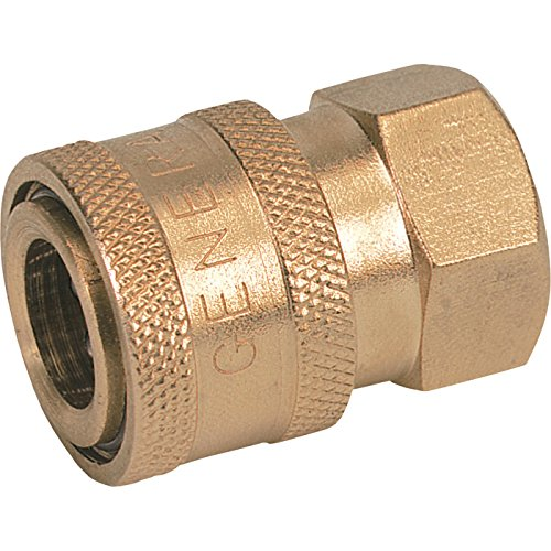 General Pump Pressure Washer Quick Coupler - 1/2in. Inlet, 4500 PSI, 12.0 GPM, Brass, Model Number ND10013P