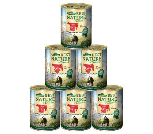 Dehner Best Nature Katzenfutter Adult, Rind und Pute mit Karotten, 6 x 400 g (2.4 kg)