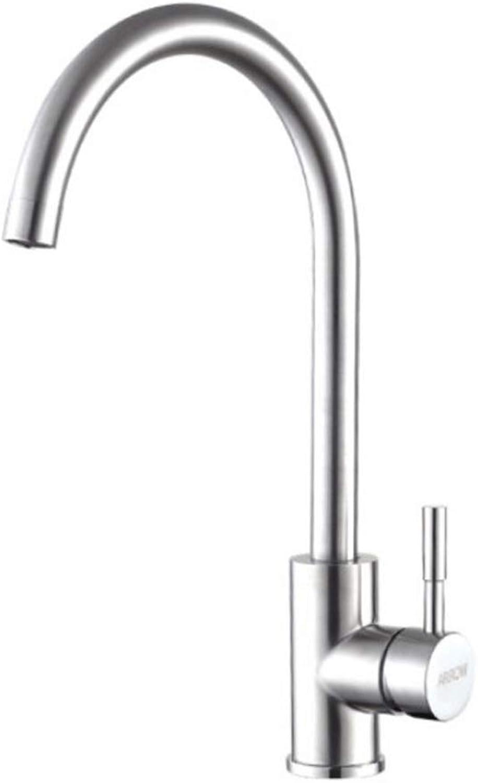 8HAOWENJU Wasserhahn, Edelstahl küchenarmatur, 360 Grad drehen heien und kalten waschbecken Wasserhahn, geeignet für küche, Badezimmer