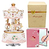 love for you carousel music boxes for women,3-horse merchandise classic clockworek musical box for