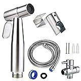"Handheld Bidet Sprayer for Toilet, 7/8"" Stainless Steel Adjustable Pressure Bidet Faucet Diaper Sprayer Set with Hose Attachment for Bathroom"