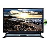 "AXESS TVD1804-24 24"" HD TV/DVD Combo with External Soundbar Speaker, SD Card, AC/DC Power, HDMI Port, Remote Control"