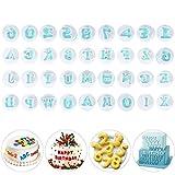 36 Pcs Letter Alphabet Number Plunger Cookie Cutter Moulds Cupcake Fondant Mould Decorating Biscuit Embosser Baking Mold for Wedding Birthday Baby Shower Party Cake Decoration (26 Letter + 10 Number)