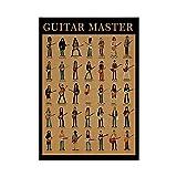 HNZKly Guitar Master Wand Bilder Leinwand Gemälde Gitarre