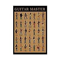抽象ギターマスターアートワーク壁のビンテージポスター写真家の装飾壁キャンバスプリント絵画壁アート50X70cm20x28インチフレームなし