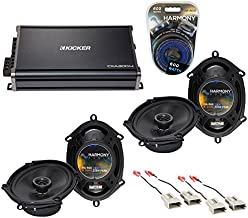 Compatible with Ford Mustang 1999-2004 Factory Speaker Upgrade Harmony (2) R68 & CXA300.4 Amp (Renewed)
