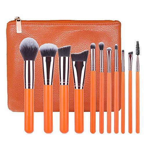 WFBD-CN Pinceau de Maquillage Maquillage Rose Brosse 15 de Maquillage Or Rose Brosse Multi-Fonction Kit de Maquillage Jeu de Pinceau de Maquillage (Color : Orange)