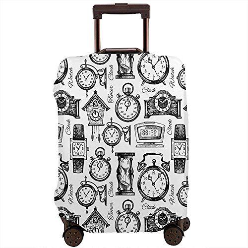 Reisegepäck-Abdeckung Hand gezeichnete Uhren und Armbanduhren Vintage dekorative Koffer Beschützer Größe L