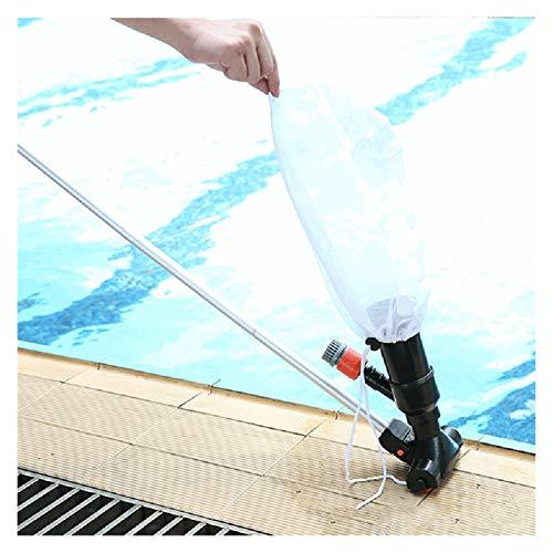 Limpiadores de la piscina Limpiador de aspiradora subacuática de chorro de piscina portátil con cepillo + bolsa + polo de 49 pulgadas para la piscina sobre el suelo Fuente de estanque de spa Piscina s