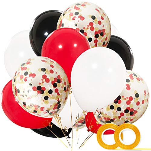 Pirate Party Supplies Balloons 40 Pack 12 Inch White Black Red Latex With Confetti Balloon For Baby Shower Lumberjack Birthday Decorations Favors Buy Online In India At Desertcart Productid 87211834