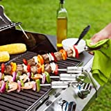 Quirky 14-inch Slide and Serve Skewers, Set of 4