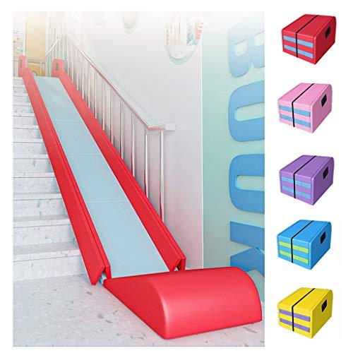 AIOEJP Tobogán Plegable, tobogán para su Parque Infantil Juguete Independiente para Niños, Primer Tobogán para Escaleras Interiores - 5 M