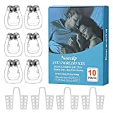 Upgraded Snore Stopper, Anti Snoring Device, 6 Magnetic Nose Clips,4 Nasal Dilators with Environmental Plastic Box,Silicone Anti Snore Clipple, Comfortable & Professional, 2 Choices for Deep Sleep.