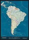 Columbus Kontinentkarte SÜDAMERIKA: 5-farbig auf