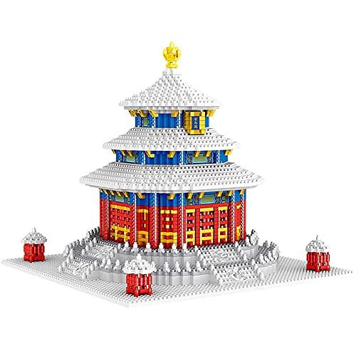 WDDWYHLL Bloques de construcción Templo del Cielo, 2641 Piezas Arquitectura Antigua China World Landmark 3D Micro Ladrillos Nano Bloques Juguete de construcción para niños y Adultos