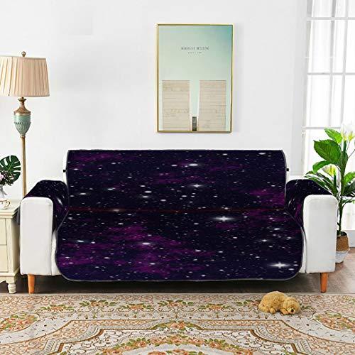 WYYWCY Night Sky Stars Sky Night Sky Stars Espacio Amortiguación de sofá Cojines de sofá Modernos Sofá Cojines de sofá 66'(168 cm) para 3 Asientos Lavado a máquina Brazo Funda de Silla