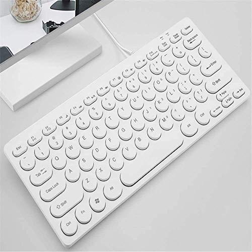 XIUYU Niedliche Girly Herz-Tastatur, Retro Punk-Tastatur, Wired Computer-USB-Tastatur, Home Office Mini Silent-Keyboard