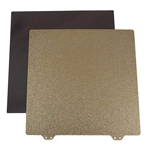 WLYXZQ 3D Printer Parts, 235x235mm 3D Printer Magnetic Sticker B Surface with Golden Double Texture PEI Powder Steel Plate 3D Printer DIY KIT