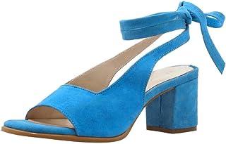 987c788aa6adac KItipeng Chaussure Ete Lacets Femme,Sandale A Talon—RéTro Talon Carré  5Cm,Bout