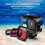 Kupton Accessories Kit Bundle Compatible with GoPro HERO9, Waterproof Housing + Glass Screen Protector + Silicone Case… 13 📷【60m/196ft Waterproof Housing Case】Kupton housing case has tight buckle and upgraded waterproof seal, providing ultimate protection for your GoPro during extreme outdoor activities and deep-water diving. 📷【Silicone Case Set】New Version Bundle compatible with GoPro HERO9 adds daily protection set for your camera, including silicone sleeve case, lanyard as well as silicone lens cap. Silicone protective case with light but strong materials fits your camera snugly. Lanyard well solves the problem of carrying for outdoor video activity. 📷【Tempered Glass Screen Protector】Tempered glass protector with a thickness of only 0.3mm brings crystal viewing experience, protecting screen and lens of your camera from dust, fingerprints, drops, scratches and bumps.