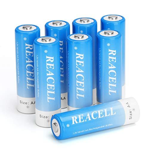 REACELL Akku AA 2800mAh Wiederaufladbar Batterien Mignon NI-MH Aufladbare Akkubatterien 1,2V Geringe Selbstentladung mit Akkubox - 8 Stück