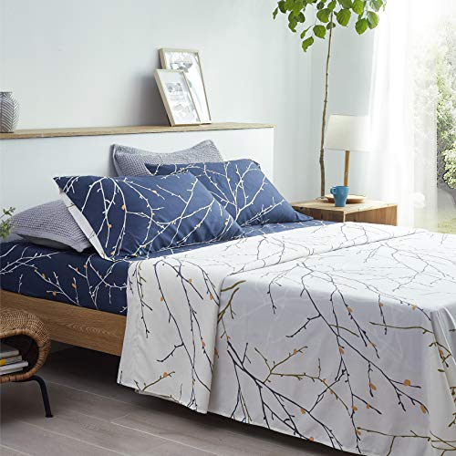 Bedsure Bettwäsche Set 135x190/200 4-teilig...