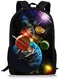 SEANATIVE Elementray - Mochila escolar para niños (17 pulgadas, bolsa de libros, adolescentes) Negro azul espacio One_Size