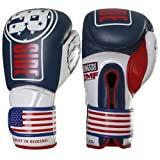 Ringside IMF Tech Hook and Loop Boxing Training Sparring Gloves , Red/White/Black, 16 oz