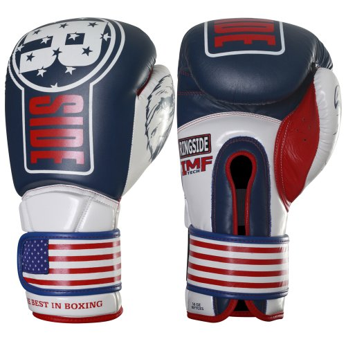 Ringside Limited Edition USA IMF Tech Boxhandschuhe Kickboxen Muay Thai Training Handschuhe Sparring Punching Mitts, Unisex-Erwachsene, Rot/Weiß/Schwarz, 16 oz
