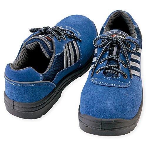 (アイトス) AITOZ JASS合格品(A種) セーフティシューズ (ウレタンミドル靴ヒモ・スエードタイプ) (AZ59821) ネイビー 24.5
