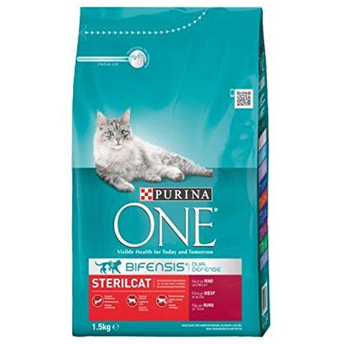 Purina One bifensis para gatos pienso pavo y trigo Croccantini 1,5kg