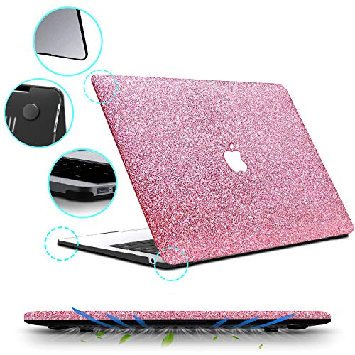 B BELK MacBook Air 13 inch Case 2020 2019 2018 Release A2337 M1 A2179 A1932 with Touch ID, Glitter Sparkly Girly Smooth Hard Shell Cover with Keyboard Cover, MacBook Air 13 2020 with Retina Display