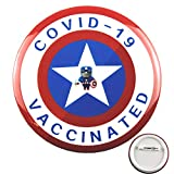 📐 55 mm in diameter, like the width of a credit card size, appropriate that can clearly show the text content.Increase the trust each other, reduce social distance and support the covid 19 vaccines. 👌 The badge is specially designed for COVID-19 vacc...