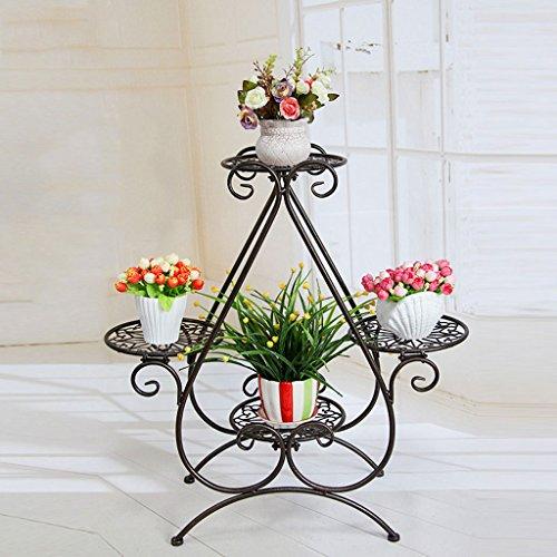 CKH Support de Fleurs en Fer Style européen pour Balcon intérieur et extérieur