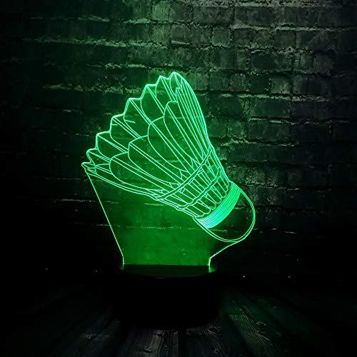 3D LED Sport Badminton Nachtlicht Illusion Lampe 7 Farbwechsel Dekor Lampe Nachttischlampe Schlaflicht perfekte Geburtstags geschenke Kinder Spielzeug