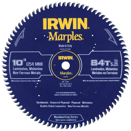 IRWIN Marples 10-Inch Circular Saw Blade, Triple Chip Grind, 84-Tooth (1807381)