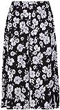 Falda larga para mujer, talla grande, estampado floral, cintura elástica, con estampado de flores