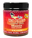 Reggae Spice Company Thai Coconut Curry Jerk Seasoning Marinade Sauce for Chicken, Beef, Pork, Lamb, Fish, BBQ, Burgers, Vegetables - 11 OZ, Hot and Spicy