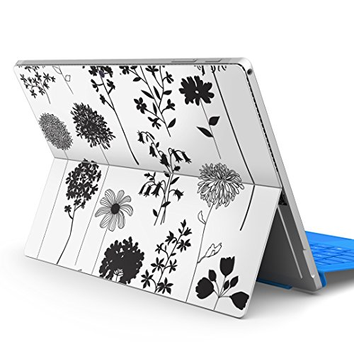 igsticker Decal Cover for Microsoft Surface Pro 7(2019)/ Pro 6 /Pro 2017/ Pro 4/Ultra Thin Protective Body Sticker Skins 013428 Monotone Flower Leaf