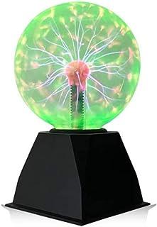 Goeco Luce a Sfera al Plasma, Palla al Plasma Magica 5 Pollici, Sfera Flash sensibile al Tocco Palla elettrostatica, Luce ...