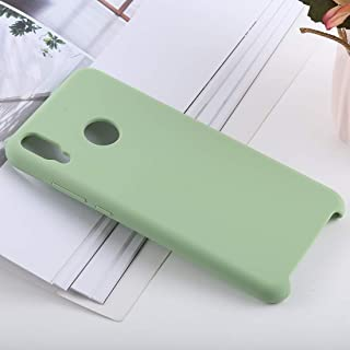 Phone Shell Solid Color Liquid Silicone Shockproof Case for Huawei Honor 8X(Black) (Color : Green)