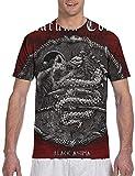Photo de Lacuna Coil Black Anima Mens 3D Print T-Shirts Novelty Crewneck Tees