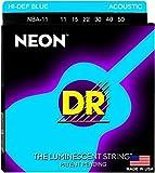 DR String NBA-11 Neon Blue Jeu de cordes pour guitare acoustique