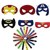 000 Máscara de Superhéroe Decoración de Fiesta Máscaras de Superhéroe...